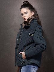 Roadster Navy Quilted Jacket