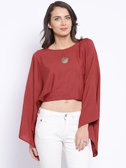Anouk Brick Red Crop Top
