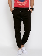 LOCOMOTIVE Men Solid Loose Fit Cuffed Trousers