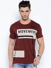 Locomotive Maroon Printed T-shirt