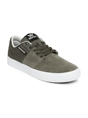 Supra Men Grey Stacks Vulc II Suede Sneakers