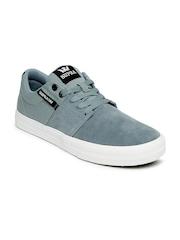 Supra Men Blue Stacks Vulc II Suede Sneakers