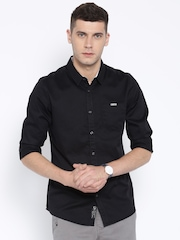 Being Human Clothing Black Slim Casual Shirt