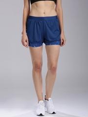 HRX by Hrithik Roshan Women Navy Layered Training Shorts