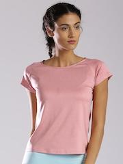 HRX by Hrithik Roshan Women Pink Solid T-Shirt