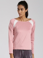 HRX by Hrithik Roshan Women Pink Solid Round Neck Active T-Shirt