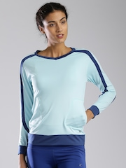 HRX by Hrithik Roshan Women Blue Solid Active T-Shirt