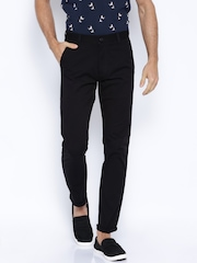 Highlander Black Casual Trousers