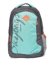 Skybags Unisex Sea Green & Grey Footloose Leo Printed Backpack