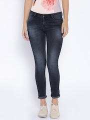Kraus Jeans Blue Washed Skinny Fit Jeans