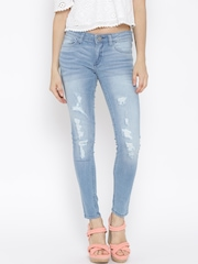 Tokyo Talkies Blue Washed Super-Skinny Jeans