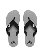 Adidas Men Black & Grey Flip-Flops
