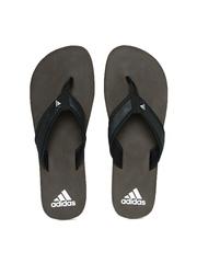 Adidas Men Black & Coffee Brown Flip-Flops