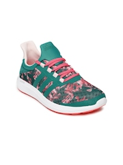 Adidas Women Green CC Sonic Printed Running Shoes