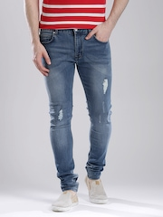 French Connection Blue Washed Super-Skinny Jeans