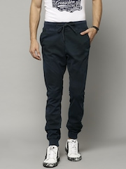 French Connection Navy Printed Jogger Trousers