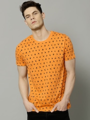 French Connection Orange Printed T-shirt