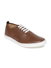 Franco Leone Men Brown Solid Sneakers