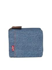 Levi's Men Blue Denim Wallet