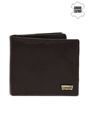Levi's Men Brown Genuine Leather Wallet