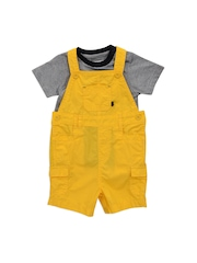 mothercare Boys Yellow & Black Clothing Set