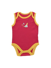 mothercare Girls Pack of 5 Printed Bodysuits