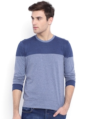 Campus Sutra Blue T-shirt