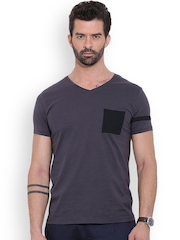 MR BUTTON Grey Structured Fit T-shirt