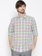 Wills Lifestyle Multicoloured Checked Slim Casual Shirt