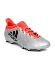 Adidas Men Silver-Toned X 16.3 FG Football Shoes