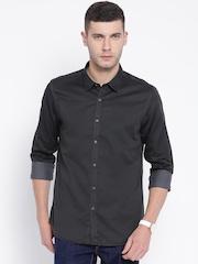 Flying Machine Black Casual Shirt