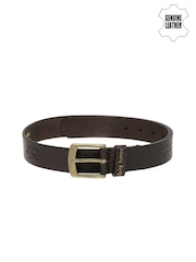 Being Human Clothing Men Brown Genuine Leather Belt