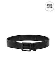 Being Human Clothing Men Black Genuine Leather Belt