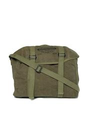 Jack & Jones Men Olive Green Messenger Bag