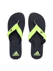Adidas Men Neon Green & Black Flip-Flops