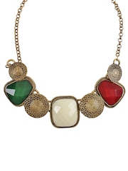 Shining Diva Antique Gold-Toned Necklace
