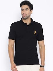 U.S. Polo Assn. Black Polo T-shirt
