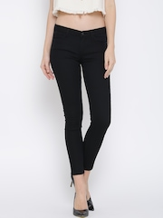 MANGO Black Low-Rise Skinny Jeans