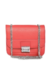 MANGO Red Textured Sling Bag