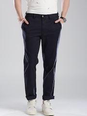 GANT Navy Tailored Fit Chino Trousers