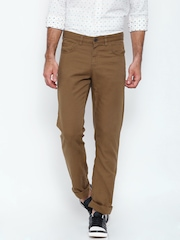 Allen Solly Brown Smart Slim Fit Chino Trousers