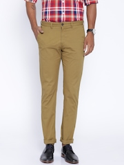 Allen Solly Khaki Ultra Slim Fit Chino Trousers