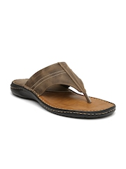 Bata Men Brown Zappos Sandals
