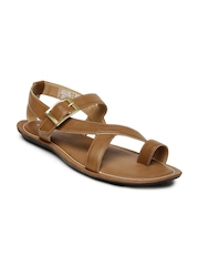 Bata Men Tan Brown Sandals