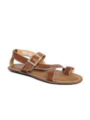 Bata Men Tan Brown Sandals