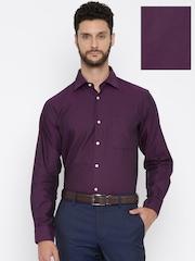 Arrow Men Purple Regular Fit Formal Shirt