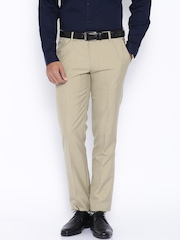 Black Coffee Beige Sharp Fit Formal Trousers