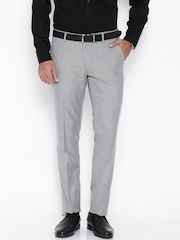 Black Coffee Grey Sharp Fit Formal Trousers