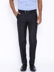 Black Coffee Black Regular Slim Fit Formal Trousers