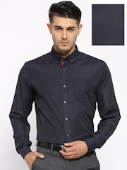 Mark Taylor Navy Slim Fit Formal Shirt